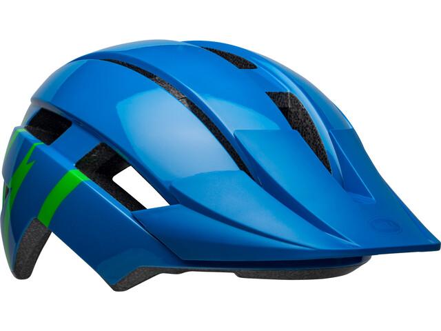 Bell Sidetrack II Helmet Youth strike gloss blue/green